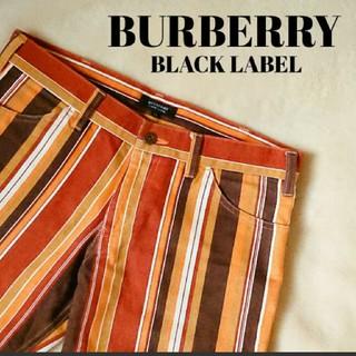 バーバリーブラックレーベル(BURBERRY BLACK LABEL)のBURBERRY black label꙳★*゚マルチストライプパンツ(チノパン)