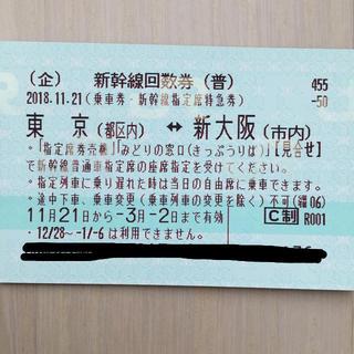 ジェイアール(JR)ののまねこさま専用 新幹線チケット(鉄道乗車券)