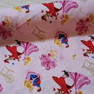 ディズニー(Disney)のディズニー USAコットン 眠れる森の美女 オーロラ姫 生地 50cm ハギレ(生地/糸)
