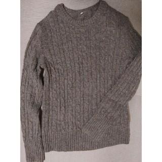 ムジルシリョウヒン(MUJI (無印良品))の無印 メリノウール ケーブル編みニット セーター(ニット/セーター)