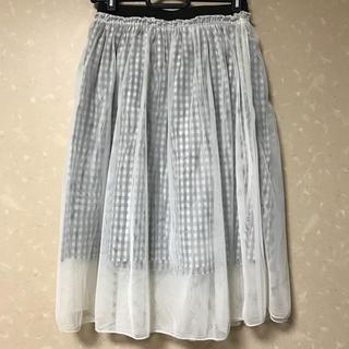 トゥーパーセントトウキョウ(2% TOKYO)のチュールスカート(ひざ丈スカート)