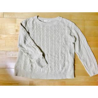 ショコラフィネローブ(chocol raffine robe)の白色ニット(ニット/セーター)
