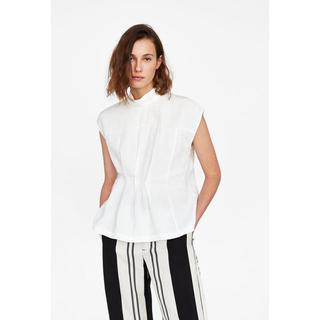 ザラ(ZARA)の新品未使用 ZARA ホワイト シャツ (Tシャツ(半袖/袖なし))