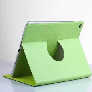 iPad Air2 グリーン シンプル 360度回転 iPadケース(iPadケース)