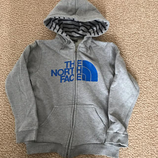 THE NORTH FACE - ノースフェイス フルジップロゴパーカー キッズ 130サイズ グレー