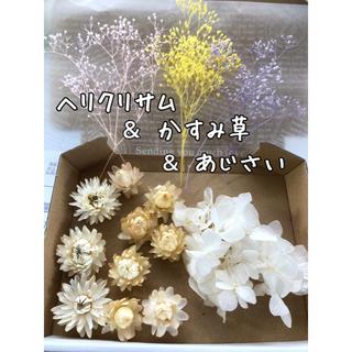 花材 ヘリクリサム&あじさい&かすみ草(その他)