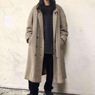 コモリ(COMOLI)のVINTAGE over sized wool tweed coat (チェスターコート)