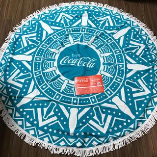 コカコーラ(コカ・コーラ)のコカコーラ ラウンドタオル 新品未使用(タオル/バス用品)