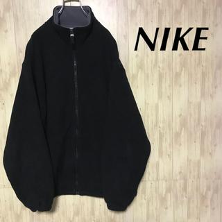 ナイキ(NIKE)の美品 NIKE フリースジャケット 刺繍ロゴ (ブルゾン)