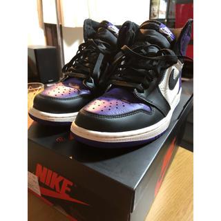 ナイキ(NIKE)のNike Air Jordan 1 Court Purple  コートパープル(スニーカー)