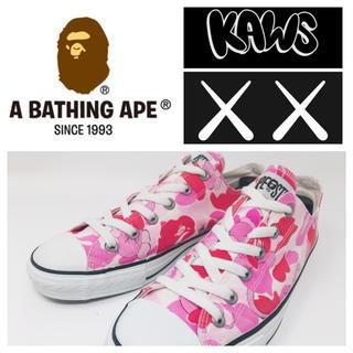 アベイシングエイプ(A BATHING APE)の希少レアA BATHING APE×KAWS コンバースオールスター型スニーカー(スニーカー)