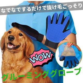 犬 猫 ペット用 グルーミンググローブ  手袋 (右手) (その他)