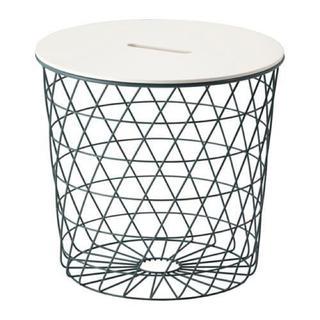 イケア(IKEA)の新品未使用 IKEA イケア KVISTBRO収納テーブル ターコイズ(コーヒーテーブル/サイドテーブル)