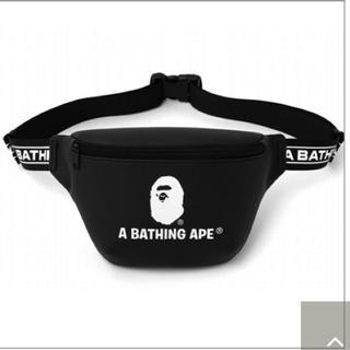 アベイシングエイプ(A BATHING APE)のA BATHING APE レザー調 ウエストバッグ エイプ ショルダーバッグ(ウエストポーチ)