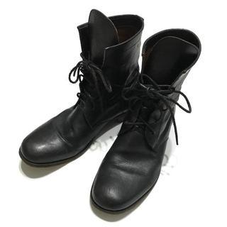 ジュンハシモト(junhashimoto)の定価86400円 ジュンハシモト レースアップレザーブーツ AKMwjk靴(ブーツ)