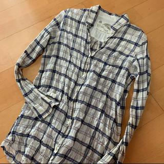 ゴア(goa)のgoaコットンリネンカシュクールシャツ(シャツ/ブラウス(長袖/七分))
