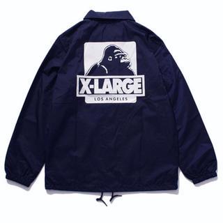 エクストララージ(XLARGE)のXLARGE コーチジャケット ネイビー S(ナイロンジャケット)