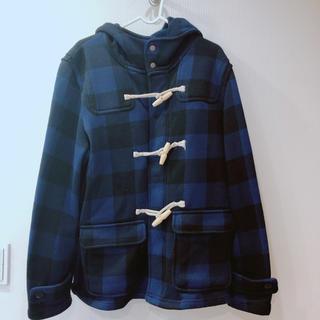 GU - 美品 GU ダッフルコート 青 ブラック ブランド ユニクロ 冬 メンズ xxl
