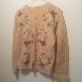 ピンクハウス(PINK HOUSE)のvintage knit 🧺 ニットカーディガン(カーディガン)