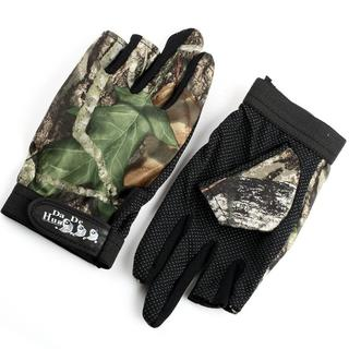◆大特価◆釣り用手袋 迷彩 フィッシンググローブ 指3本出し(その他)