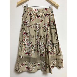 アンティックラグ(antic rag)の花柄フレアスカート(ひざ丈スカート)