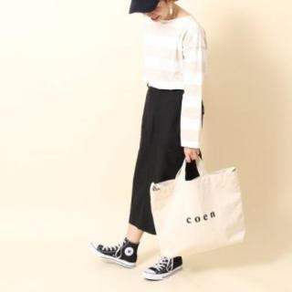 コーエン(coen)の【新品タグ付き】coen トートバックラージサイズ ホワイト 2way 新作(トートバッグ)