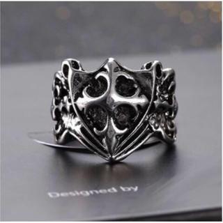 最高にカッコイイデザイン! クロス モチーフ リング 指輪 メンズ(リング(指輪))