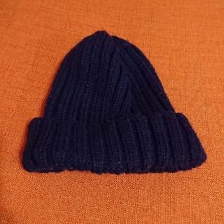 ジーユー(GU)の☆キッズ GU ニット帽 紺色☆(帽子)