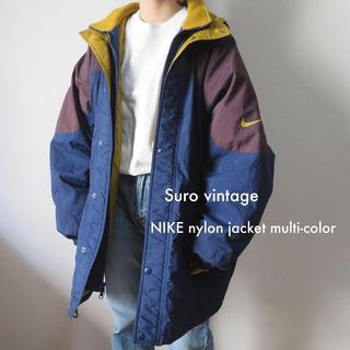 ナイキ(NIKE)のNIKE 中綿 ナイロンジャケット マウンテンパーカー マルチカラー 古着(ナイロンジャケット)