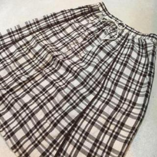 サマンサモスモス(SM2)のsm2  綿麻チェックスカート (ひざ丈スカート)