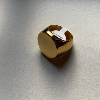 フラットリング、13号、ゴールド import  ステンレス鋼重厚感有り!(リング(指輪))
