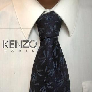 KENZO - 大人気 美品 KENZO ケンゾー 日本製 総柄 植物柄 高級シルクネクタイ