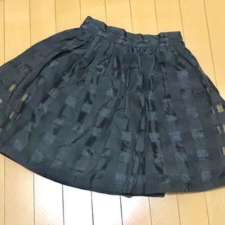 コウベレタス(神戸レタス)の神戸レタス チェック柄 チュールスカート ブラック(ミニスカート)