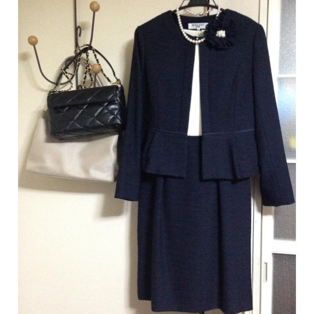NATURAL BEAUTY BASIC(ナチュラルビューティーベーシック)のナチュラルビューティーベーシック ワンピーススーツ 卒業式 入学式 ママスーツ レディースのフォーマル/ドレス(スーツ)の商品写真