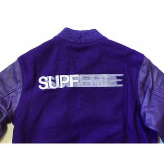シュプリーム(Supreme)のSupreme Motion Logo Varsity Jacket 紫 M(スタジャン)