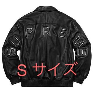 シュプリーム(Supreme)のsupreme studded Arc Logo Leather Jacket(レザージャケット)