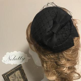 チュール ベール  トークハット トーク帽 ヘッドドレス コーム4黒(その他)
