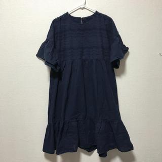 Cohina ゆったりシルエット刺繍ワンピ(ひざ丈ワンピース)