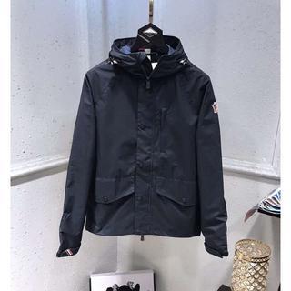 モンクレール(MONCLER)のmoncler薄いジャケットメンズLサイズダークブルー(ノーカラージャケット)