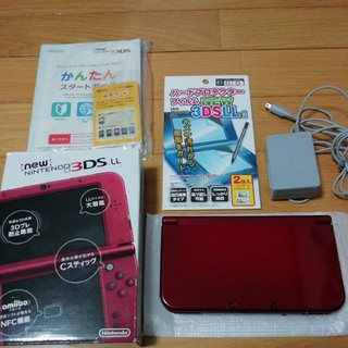 ニンテンドー3DS - 【美品】★☆NEW Nintendo 3DSLL メタリックレッド本体 箱付き★