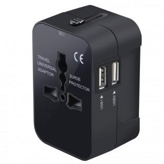 変換プラグ 海外旅行用コンセント 安全旅行充電器 ACアダプタ  ブラック(その他)