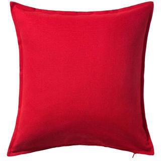イケア(IKEA)の【新品】IKEA クッション★赤とグレー!中身フェザークッション+カバーで格安(クッション)
