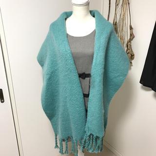 ショコラフィネローブ(chocol raffine robe)のエメラルドグリーン ストール ショコラフィネローブ(ストール/パシュミナ)