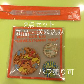 アラシ(嵐)の【新品】嵐フェス2012 缶バッジセット ミサンガ 2点セット(その他)