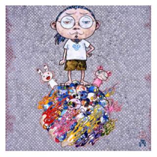 【値段交渉】村上隆 300枚限定アートポスター カイカイとキキと僕(版画)
