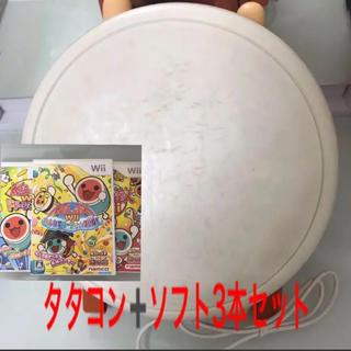 ウィー(Wii)のwii 太鼓の達人 4点セット(家庭用ゲームソフト)