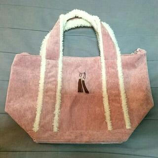 シマムラ(しまむら)のしまむら×earthmusic&ecology コーデュロイトートバッグ ピンク(トートバッグ)