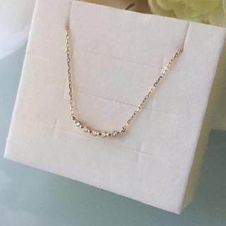 COCOSHNIK - ココシュニック  K10YG  ダイヤモンド  ふせ込みアーチ5石  ネックレス