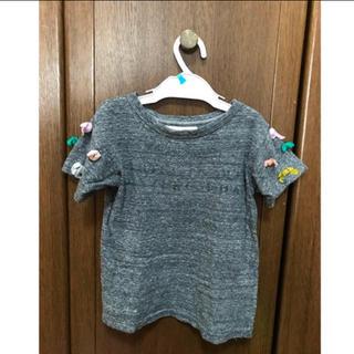 ゴートゥーハリウッド(GO TO HOLLYWOOD)のあちゃ様専用★gotohollywood リボンTシャツ グレー 110(Tシャツ/カットソー)
