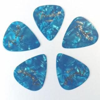 フェンダー(Fender)のFender プレミアムセルロイド OCEAN TURQUOISE Thin5枚(アコースティックギター)